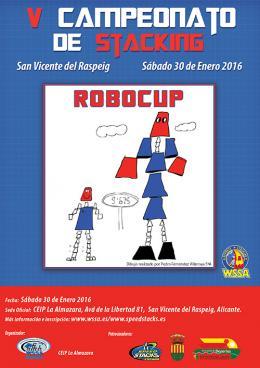 Cartel V CAMPEONATO STACKING SAN VICENTE DEL RASPEIG 2016